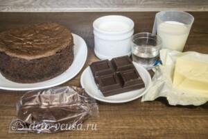 Шоколадно-карамельный торт с бананом: Ингредиенты