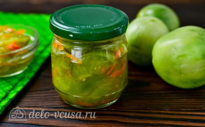Салат «Дунайский» из зеленых помидоров