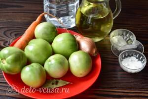 """Салат """"Дунайский"""" из зеленых помидоров: Ингредиенты"""