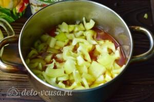 """Пикантный салат """"Глобус"""" на зиму: фото к шагу 5."""