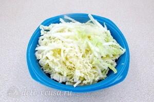 Салат с курицей, овощами и фасолью: фото к шагу 4.