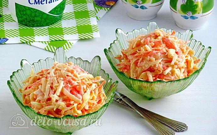 Рецепт пикантный салат из репы и сыра