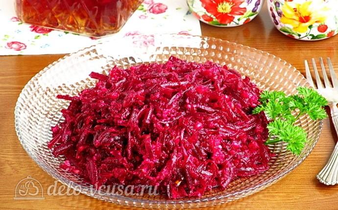 Пикантный салат из свёклы и орехов