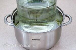 Салат из зелёных помидоров с капустой на зиму: фото к шагу 9.