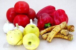 «Гюрза» - острый соус с хреном: Ингредиенты