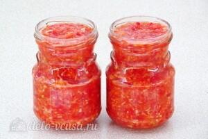 «Гюрза» - острый соус с хреном: фото к шагу 8.
