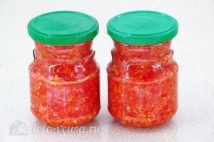 «Гюрза» - острый соус с хреном: фото к шагу 9.