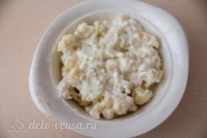 Цветная капуста, запеченная с сыром: фото к шагу 6.