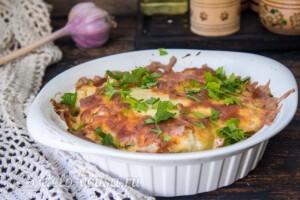 Цветная капуста, запеченная с сыром: фото к шагу 9.