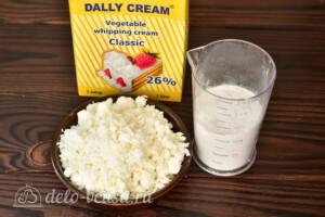 Творожно-сливочный крем без желатина: Ингредиенты