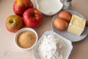 Яблочные панкейки на молоке: Ингредиенты