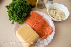 Запеченный лосось с сырно-ореховой корочкой: Ингредиенты