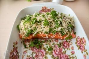 Запеченный лосось с сырно-ореховой корочкой: фото к шагу 5.