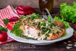 Запеченный лосось с сырно-ореховой корочкой: фото к шагу 6.