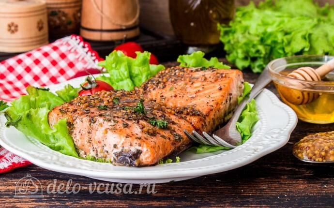 Рецепт лосось в медово-горчичном соусе