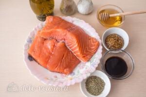 Лосось в медово-горчичном соусе: Ингредиенты