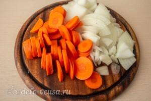Жаркое со свининой, тыквой и овощами: фото к шагу 2.