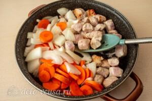 Жаркое со свининой, тыквой и овощами: фото к шагу 3.