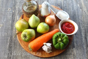 Икра из зеленых помидоров на зиму: Ингредиенты