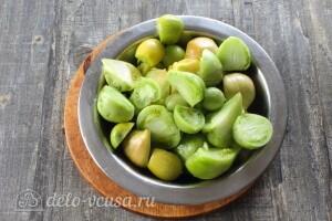 Икра из зеленых помидоров на зиму: фото к шагу 1.
