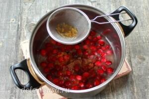 Клюквенный соус к мясу: фото к шагу 5.