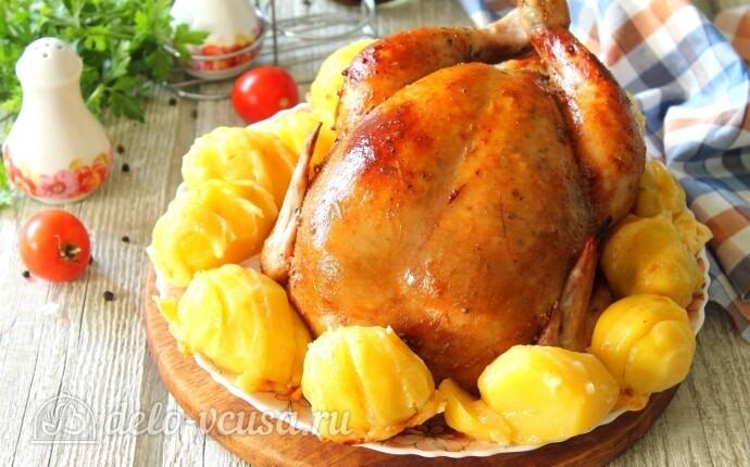 Сочная курица и картошка-гармошка