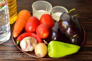 Манжо из баклажанов на зиму: Ингредиенты