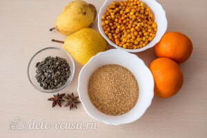 Облепиховый чай с грушей и апельсином: Ингредиенты
