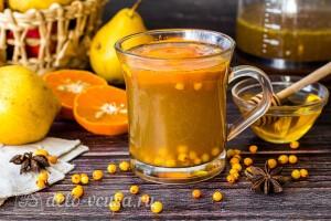 Облепиховый чай с грушей и апельсином: фото к шагу 8.