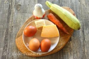 Омлет с кабачками и сыром на сковороде: Ингредиенты