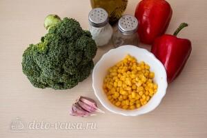 Салат из брокколи с перцем и кукурузой: Ингредиенты