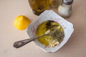 Салат из брокколи с перцем и кукурузой: фото к шагу 4.