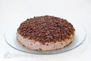 Шоколадный блинный торт с творогом: фото к шагу 18.