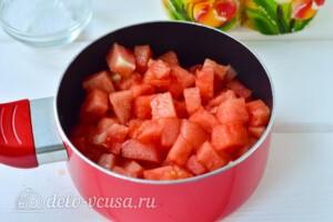 Варенье из мякоти арбуза на зиму: фото к шагу 2.