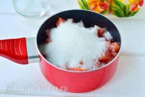 Варенье из мякоти арбуза на зиму: фото к шагу 3.