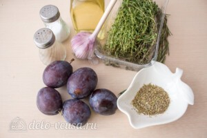 Вяленая слива в духовке: Ингредиенты