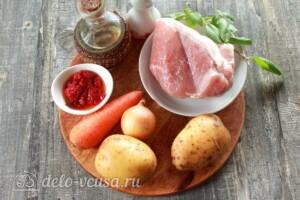 Жаркое из свинины с картошкой в мультиварке: Ингредиенты