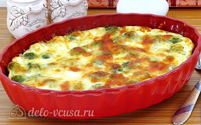 Запеченная брюссельская капуста с сыром