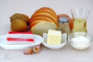 Бутерброды с киви и крабовыми палочками: Ингредиенты