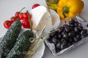 Греческий салат на шпажках: Ингредиенты