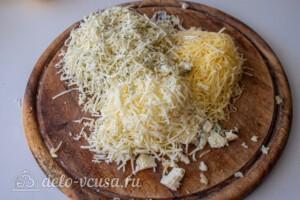 """Груша """"Три сыра"""" в духовке: фото к шагу 2."""