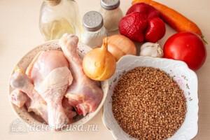 Курица с гречкой в духовке: Ингредиенты