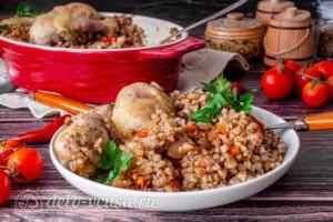 Курица с гречкой в духовке: фото к шагу 12.