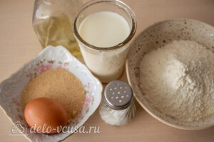 Воздушные панкейки на молоке: Ингредиенты