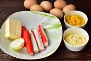 """Салат """"Кучерявый"""" с крабовыми палочками: Ингредиенты"""