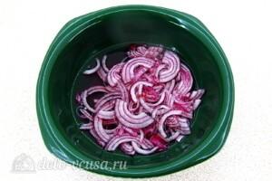 Крабовый салат с киви: фото к шагу 1.