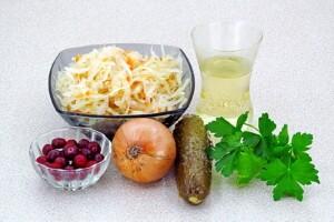 """Салат """"Витаминная бомба"""" с клюквой: Ингредиенты"""