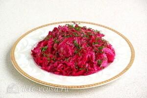Салат из свёклы по-белорусски: фото к шагу 5.