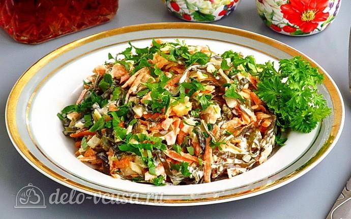 Рецепт салат из морской капусты с яблоком