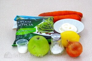 Салат из морской капусты с яблоком: Ингредиенты